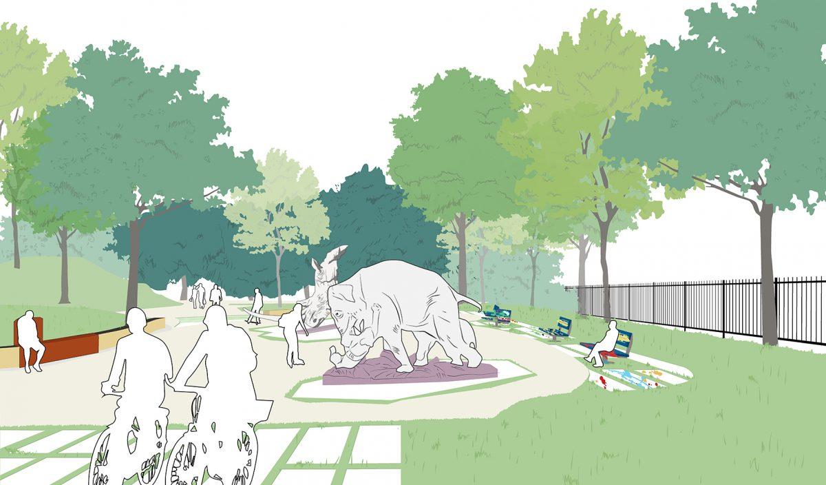 parc maurice thorez agence august patchwork-parvis-sculptures